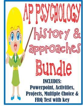 AP Psychology History & Approaches Introduction unit BUNDLE activities test