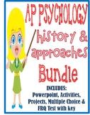 AP Psychology History & Approaches Introduction FUN unit BUNDLE activities test