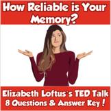 AP Psychology- How Reliable is Your Memory? (TED Talk/Elizabeth Loftus)