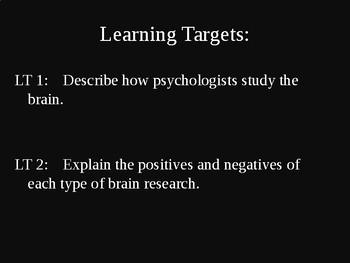 AP Psychology - How We Study the Brain PPT
