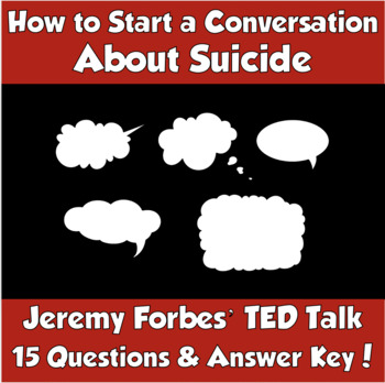 AP Psychology- How to Start a Conversation About Suicide TED Talk (J. Forbes)