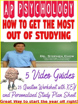 AP Psychology How to Study Worksheet and Goal Planning Sheet