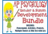 AP Psychology Human Development BUNDLE Powerpoint activities project test