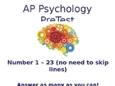 AP Psychology Informal Pre-Test