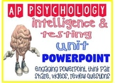 AP Psychology Intelligence & Testing Engaging Fun Powerpoint with activities