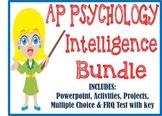 AP Psychology Intelligence & Testing unit BUNDLE Powerpoint activities test