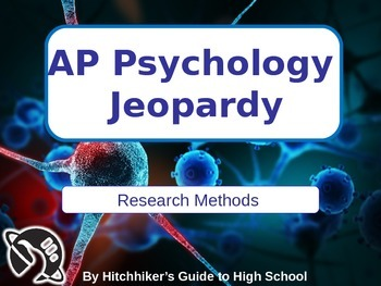 AP Psychology Jeopardy - Research Methods