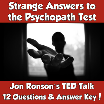 AP Psychology Jon Ronson TED Talk- Strange Answers to the Psychopath Test