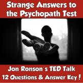 AP Psychology Jon Ronson TED Talk- Strange Answers to the