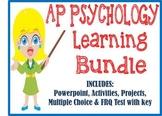 AP Psychology Learning Unit BUNDLE PowerPoint Activities Test Projects