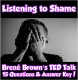AP Psychology- Listening to Shame TED Talk (Brené Brown/Motivation & Emotion)