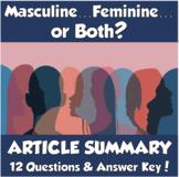 """AP Psychology- """"Masculine...Feminine...or Both?"""" Article Summary (Bem)"""