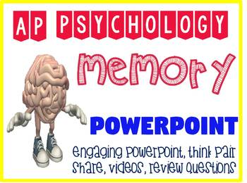 AP Psychology Memory Engaging PowerPoint with fun Activities and Demonstrations