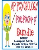 AP Psychology Memory Unit BUNDLE activities PowerPoint tests