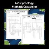 AP Psychology Methods Crossword Puzzle 2-Pack