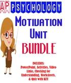 AP Psychology Motivation Unit BUNDLE PowerPoint Activities