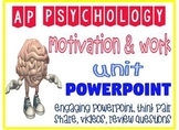 AP Psychology Motivation & Work Engaging Fun Powerpoint with activities