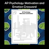AP Psychology Motivation and Emotion Crossword Puzzle