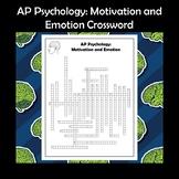 AP Psychology Motivation and Emotion Crossword Puzzle