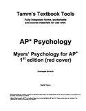 AP Psychology: Myers' Psychology for AP 1st edition Vocabulary Sheets