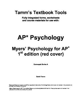 AP Psychology: Myers' Psychology for AP 1st edition Vocabulary Sheets