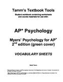AP Psychology: Myers' Psychology for AP 2nd edition Vocabu