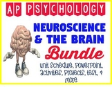 AP Psychology Neuroscience Brain Biological Bases Powerpoint & Activity BUNDLE