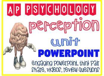AP Psychology Perception Powerpoint Engaging activities