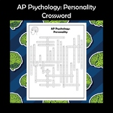 AP Psychology Personality Crossword Puzzle