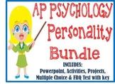 AP Psychology Personality Unit BUNDLE PowerPoint, Activities, Tests, Projects