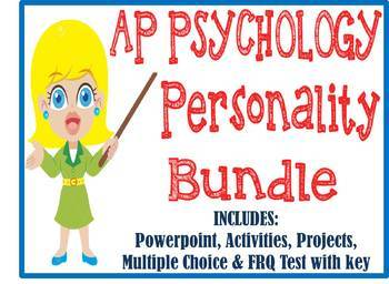 AP Psychology Personality Unit BUNDLE PowerPoint, Activities, Tests, Projects