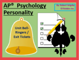 AP Psychology - Personality Unit Bell Ringers / Warm Ups / Exit Tickets
