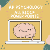 AP Psychology PowerPoint Bundle   Block Schedule & Course Redesign *Editable