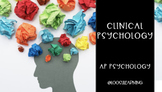 AP Psychology | Clinical Psychology *Editable *50 Minute Periods