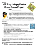 AP Psychology REVIEW BOARD GAME FINAL project with due date chart and rubric
