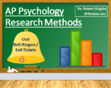 AP Psychology - Research Methods Bell Ringers / Class Warm Ups / Exit Tickets
