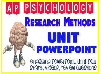 AP Psychology Research Methods Unit Fun & Engaging Powerpoint