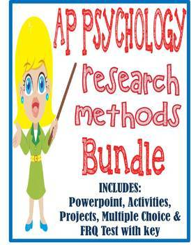 AP Psychology Research Methods unit BUNDLE Powerpoint activities test