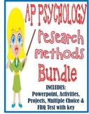 AP Psychology Research Methods unit BUNDLE Powerpoint activities test