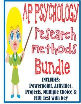 AP Psychology Research Methods unit BUNDLE Powerpoint acti