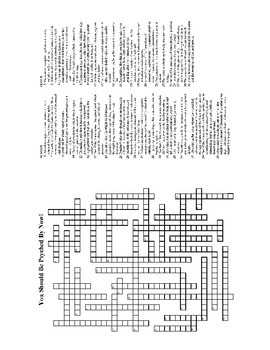 AP Psychology Review II Crossword Puzzle