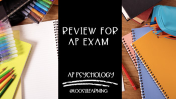 AP Psychology | Review for AP Exam PowerPoint *Editable