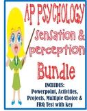 AP Psychology Sensation & Perception unit BUNDLE Powerpoints activities test