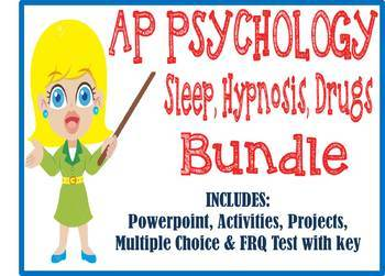 AP Psychology Sleep Hypnosis Drugs Consciousness unit BUNDLE activities test