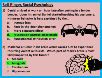 AP Psychology - Social Psychology Bell Ringers / Class Warm Ups / Exit Tickets