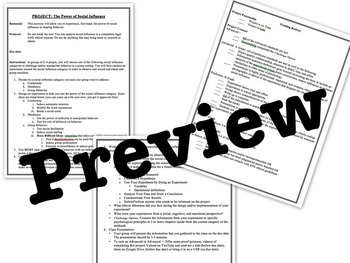 AP Psychology Social Psychology Complete Unit Plan