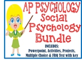 AP Psychology Social Psychology Unit BUNDLE Activities PowerPoint Test Project