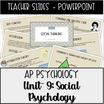 AP Psychology, Social Psychology Unit Powerpoint Presentation