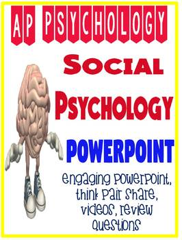 AP Psychology Social Psychology fun engaging Powerpoint with activities