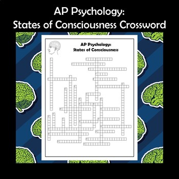 AP Psychology States of Consciousness Crossword Puzzle